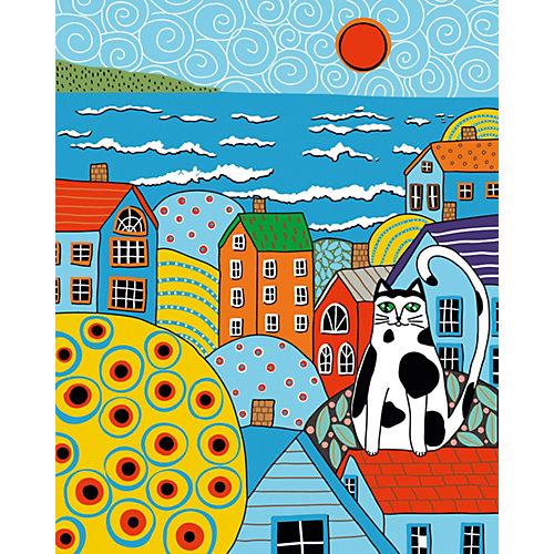 Набор для раскрашивания по номерам Артвентура «Кот и крыши Карлы Жерар» от Артвентура