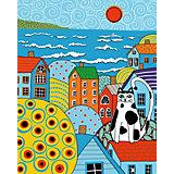 Набор для раскрашивания по номерам Артвентура «Кот и крыши Карлы Жерар»