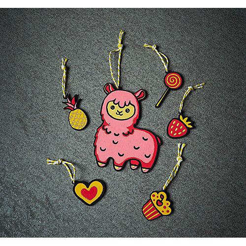 Раскраска-подвеска по дереву Grifit «Лама» от Grifit