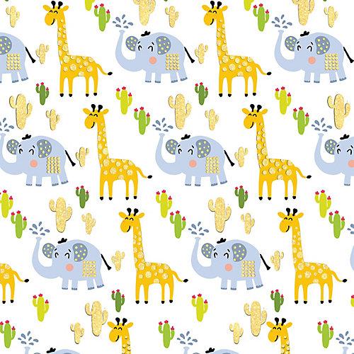 "Упаковочная бумага Феникс-Презент ""Жираф и слон"" от Феникс-Презент"