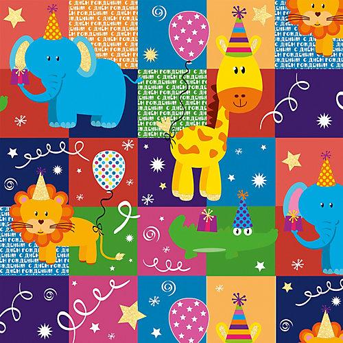 """Упаковочная бумага Феникс-Презент """"Весёлый зоопарк в квадрате"""" от Феникс-Презент"""