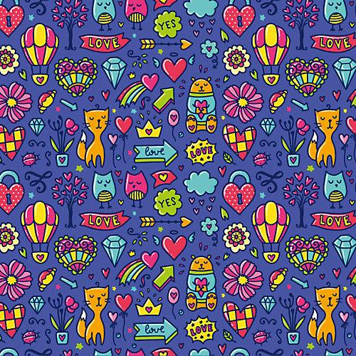 """Упаковочная бумага Феникс-Презент """"Мишки-котики сиреневый"""" от Феникс-Презент"""