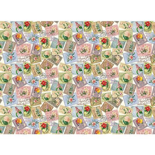 "Упаковочная бумага Феникс-Презент ""Марки с цветами"" от Феникс-Презент"