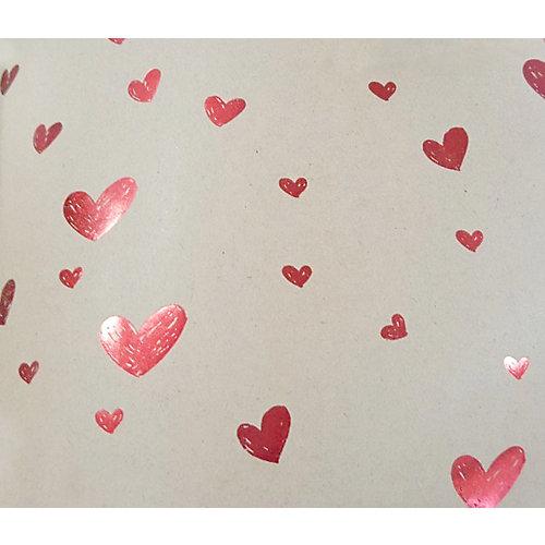 """Упаковочная бумага крафт Феникс-Презент """"Красные сердца маленькие"""" от Феникс-Презент"""