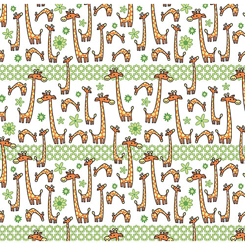 """Упаковочная бумага Феникс-Презент """"Жираф на поле"""" от Феникс-Презент"""