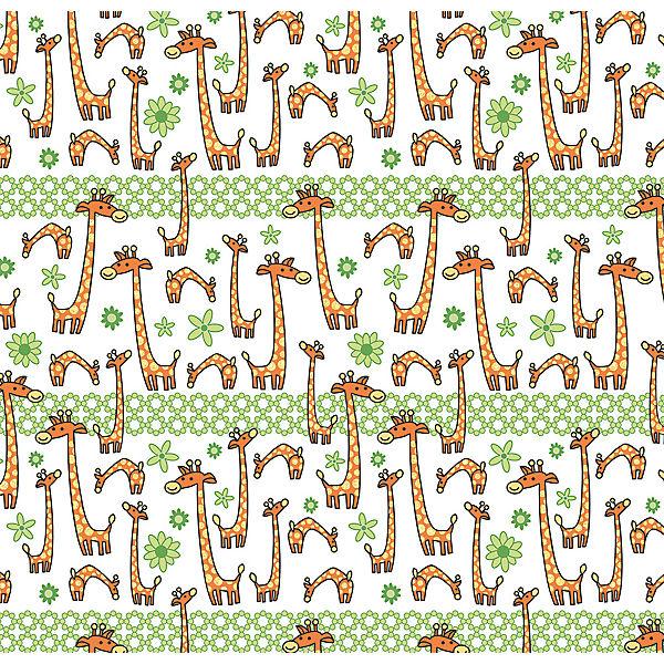 """Упаковочная бумага Феникс-Презент """"Жираф на поле"""""""