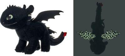 Dragons 3 Ohnezahn Plüsch 60 cm  Plüsch mit Glow  Effekt auf Flügeln und Augen