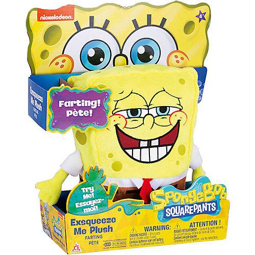 """Плюшевая игрушка SpongeBob """"Спанч Боб"""", со звуком, 20 см от Alfa Group"""