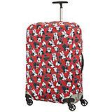 Чехол для чемодана Samsonite Микки, Минни, красный 86 см
