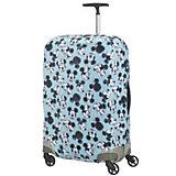 Чехол для чемодана Samsonite Микки, Минни, синий 69-75 см