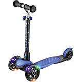 Трехколесный самокат Zycom Zing со светящимися колесами, синий/черный