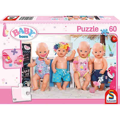 Puzzle inkl. BABY born® Schuhe, 60 Teile, 36x24 cm, Im Sommer