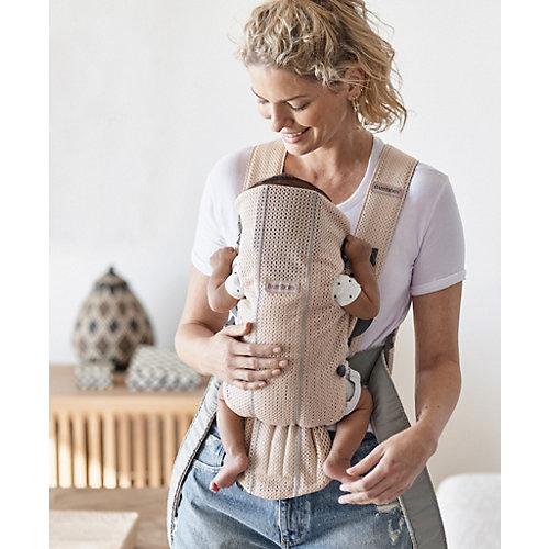 Рюкзак-кенгуру BabyBjorn Mini Mesh, жемчужно-розовый от BabyBjorn