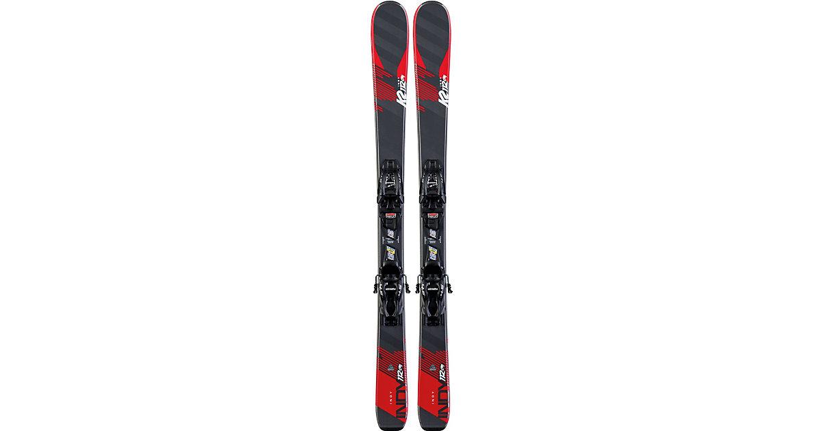 Ski-Set INDY 4.5 FDT JR black SET schwarz/rot Gr. 124