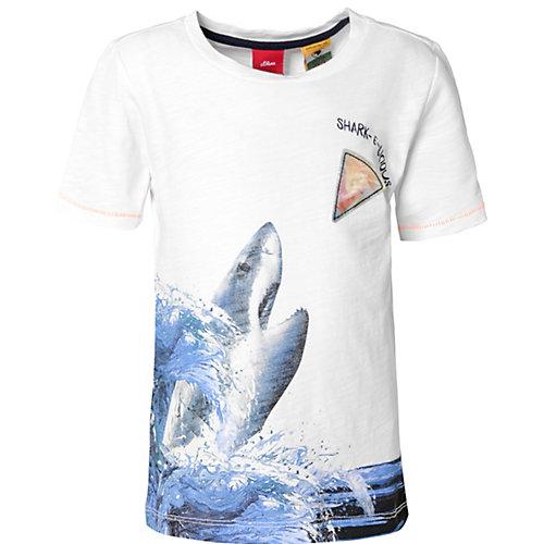 buy popular 57529 425e6 myToys | SALE s.Oliver T-Shirt mit Hai-Print Jungen Kinder ...