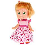 """Кукла Карапуз """"Маша и Медведь"""", Маша в платье день рождения, 15 см, озвученная"""