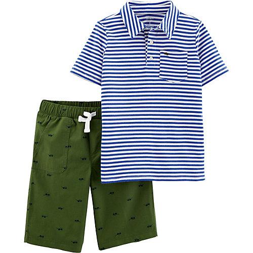 Комплект: футболка и шорты carter's для мальчика - синий от carter`s