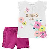 Комплект: футболка и шорты carter's для девочки