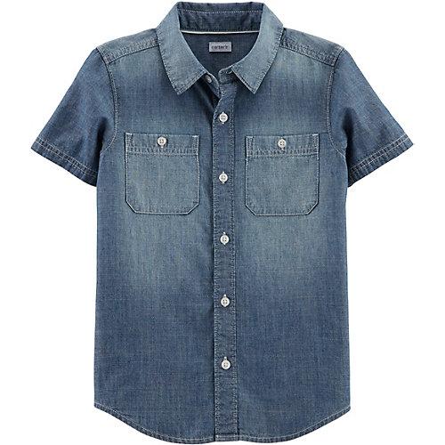 Рубашка carter's для мальчика - синий от carter`s