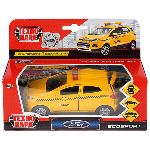 Инерционная машина Технопарк Ford Ecosport, Такси от ТЕХНОПАРК
