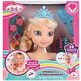 """Кукла-манекен для создания причесок Карапуз """"Принцесса в бирюзовом платье"""""""