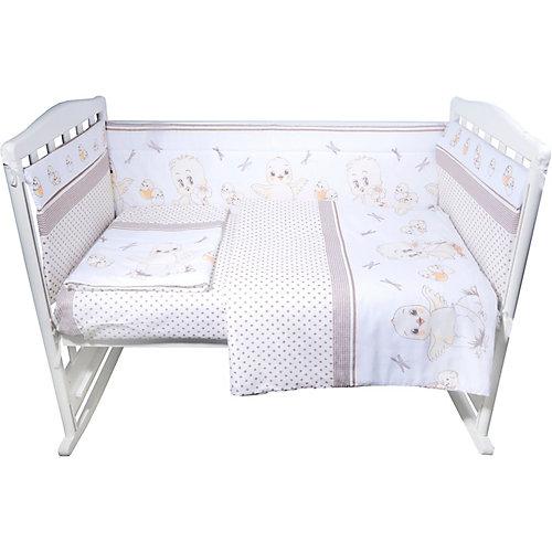 """Комплект в кроватку Эдельвейс """"Цыплята"""", 6 предметов - бежевый от Эдельвейс"""
