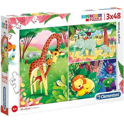 Puzzle 3x48 Teile - Jungle Friends