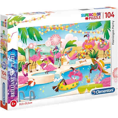 Brillant Puzzle 104 Teile - Flamingo Party
