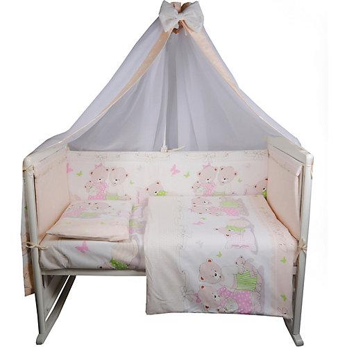 """Комплект в кроватку Эдельвейс """"Сладких снов"""", 7 предметов - бежевый от Эдельвейс"""