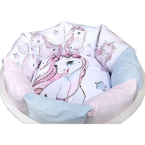 Комплект в кроватку Эдельвейс, 6 предметов - розовый/белый от Эдельвейс