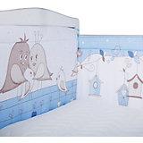 """Бортик на кроватку Эдельвейс """"Птички"""", голубой"""