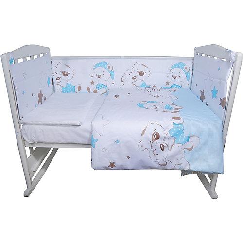"""Комплект в кроватку Эдельвейс """"Умка"""", 4 предмета, голубой - голубой от Эдельвейс"""