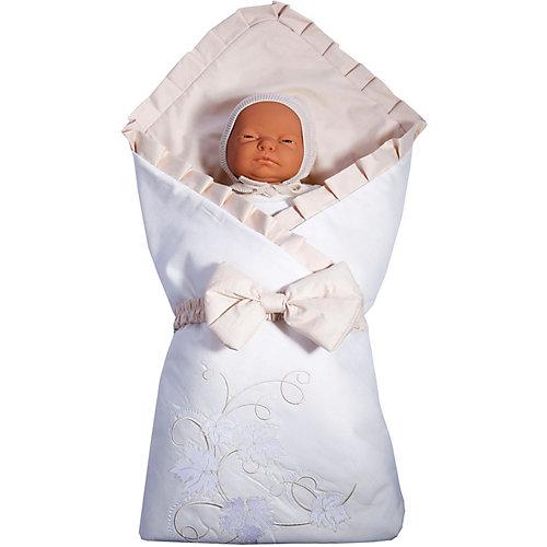 """Одеяло на выписку Эдельвейс """"Лоза"""", сатин, бежевое - бежевый от Эдельвейс"""