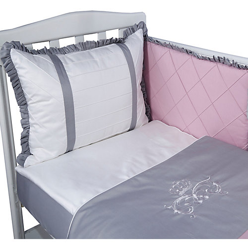"""Комплект в кроватку Эдельвейс """"Версаль"""", 6 предметов - розовый от Эдельвейс"""