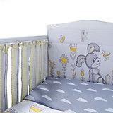 """Комплект в кроватку Эдельвейс """"Лето"""", 6 предметов, бортик-фенсы, желтый"""
