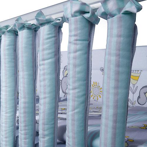 """Комплект в кроватку Эдельвейс """"Лето"""", 6 предметов, бортик-фенсы, зеленый - grau/grün от Эдельвейс"""