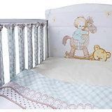 """Комплект в кроватку Эдельвейс """"Моя лошадка"""", 6 предметов, бортик-фенсы, бирюзовый"""