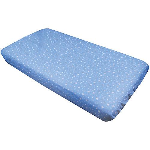 """Комплект простыней """"Эдельвейс"""", 2 штуки, 90х150 см, голубой - сине-серый от Эдельвейс"""