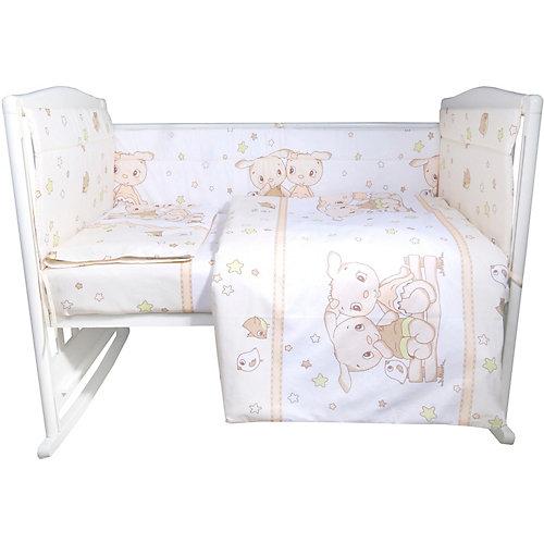"""Комплект в кроватку Эдельвейс """"Друзья"""", 4 предмета - бежевый от Эдельвейс"""