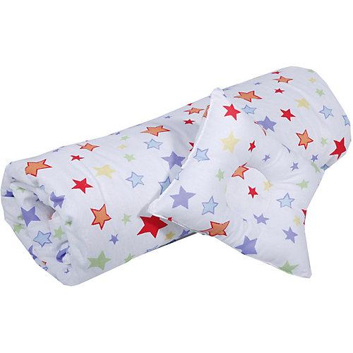 """Одеяло и фигурная подушка """"Эдельвейс"""", 110х120 см, белые - белый от Эдельвейс"""