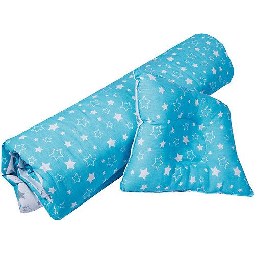 """Одеяло и фигурная подушка """"Эдельвейс"""", 110х120 см, бирюзовый/серый - grau/türkis от Эдельвейс"""