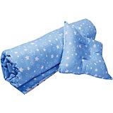 """Одеяло и фигурная подушка """"Эдельвейс"""", 110х120 см, голубой/серый"""