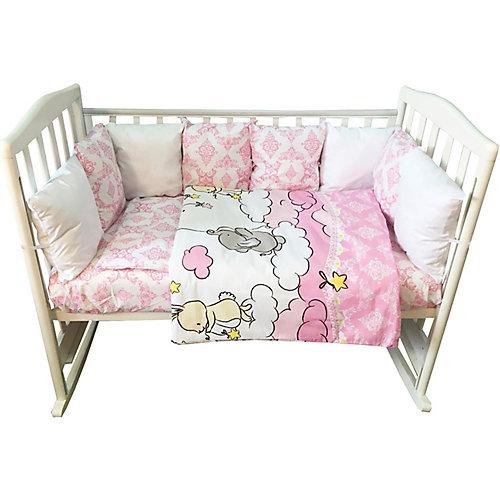 """Комплект в кроватку Эдельвейс """"Восточные сказки"""", 6 предметов, розовый - розовый от Эдельвейс"""