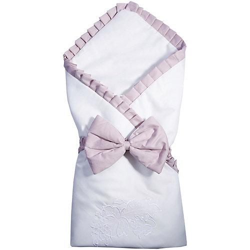 """Одеяло на выписку Эдельвейс """"Цветы"""", 90х90 см, бежевое - бежевый от Эдельвейс"""