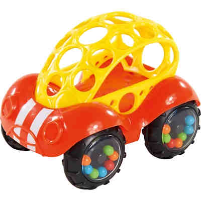 Oball Rattle & Roll Buggie Auto, rot/gelb
