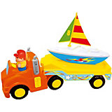 """Развивающая игрушка Kiddieland """"Трейлер с яхтой"""", без мотора"""
