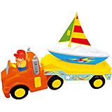 """Развивающая игрушка Kiddieland """"Трейлер с яхтой"""""""