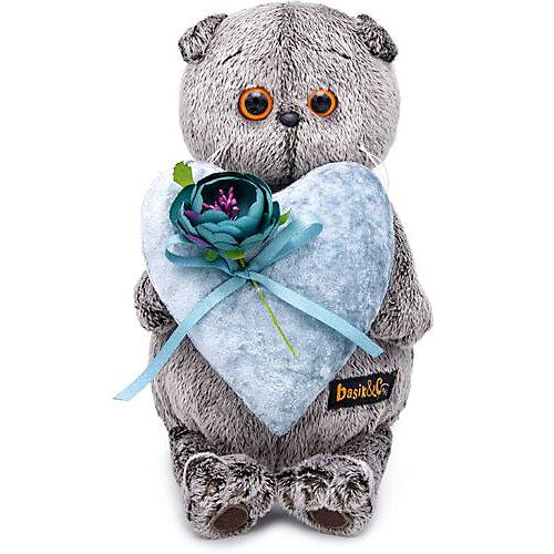 Мягкая игрушка Budi Basa Кот Басик с сердцем из бархата, 25 см от Budi Basa