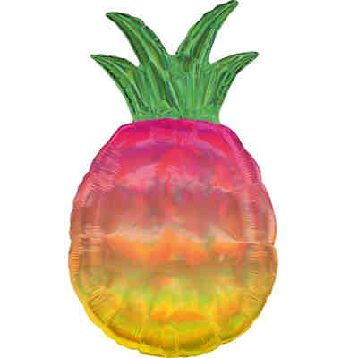 Holographic SuperShape Iridescent Pineapple Folienballon P40 verpackt 43cm x 78cm