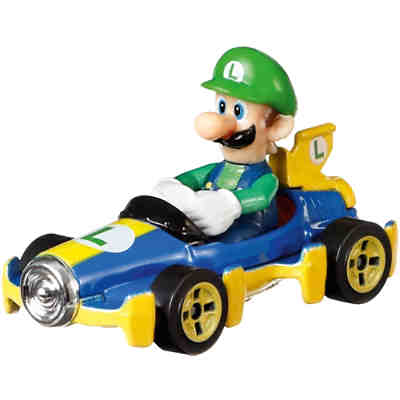 Hot Wheels Mario Kart Replica 1:64 Die-Cast Luigi